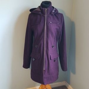 Gorgeous plum Anthropology Tulle plum coat, L